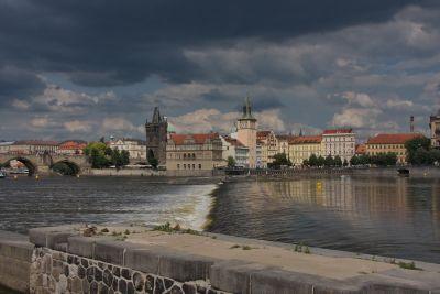 Altstadt hinter der Moldau